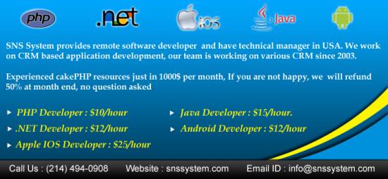 cakePHP-sfotware-developers